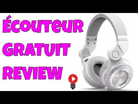 Bluedio T2+ GRATUIT ! Écouteur Sans fils Casque Audio Bluetooth Radio Review Francais ThinkUnBoxing