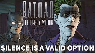 BATMAN: The Enemy Within Episode 5 - Do Nothing - All Vigilante Silent Responses HD