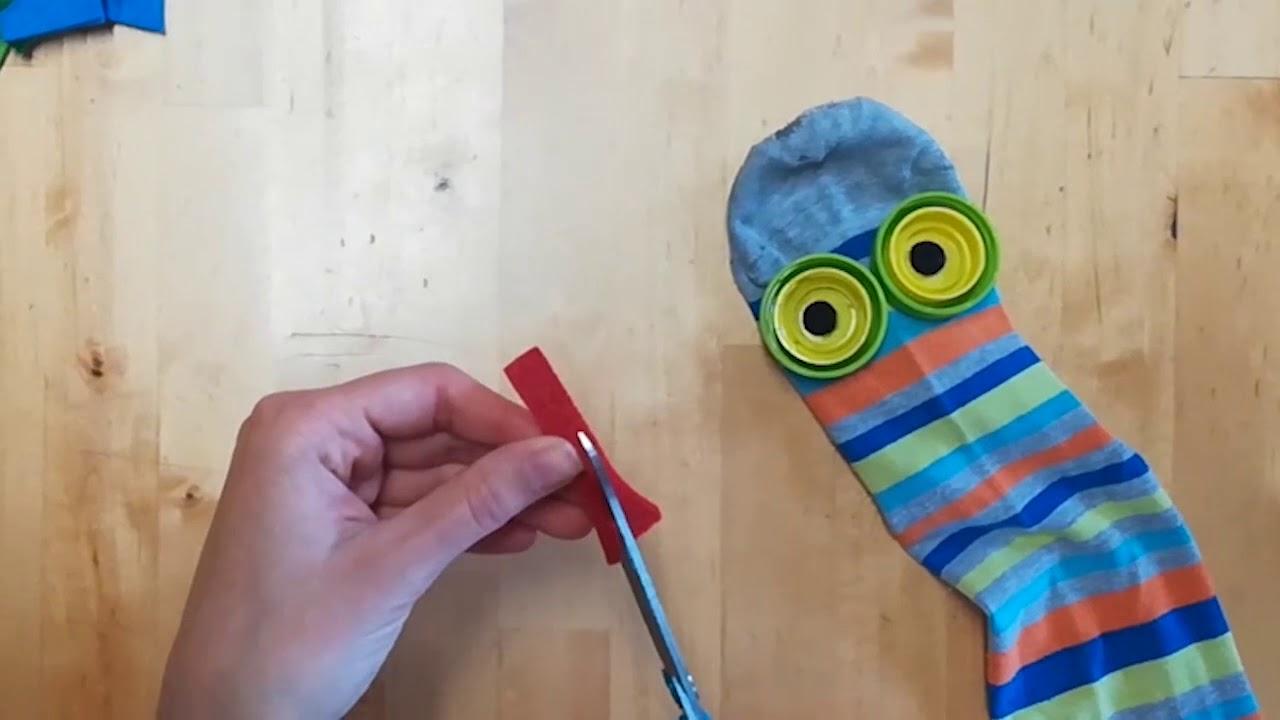 Trasformiamo Un Calzino In Una Marionetta Youtube