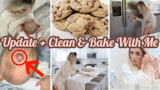 HEMANGIOMA UPDATE + CLEAN & BAKE WITH ME | DAY IN THE LIFE OF A MOM | CHANNON ROSE