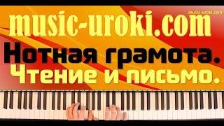 Урок фортепиано 12. Нотная грамота. Чтение и письмо. Ритмические упражнения. (piano tutorial)
