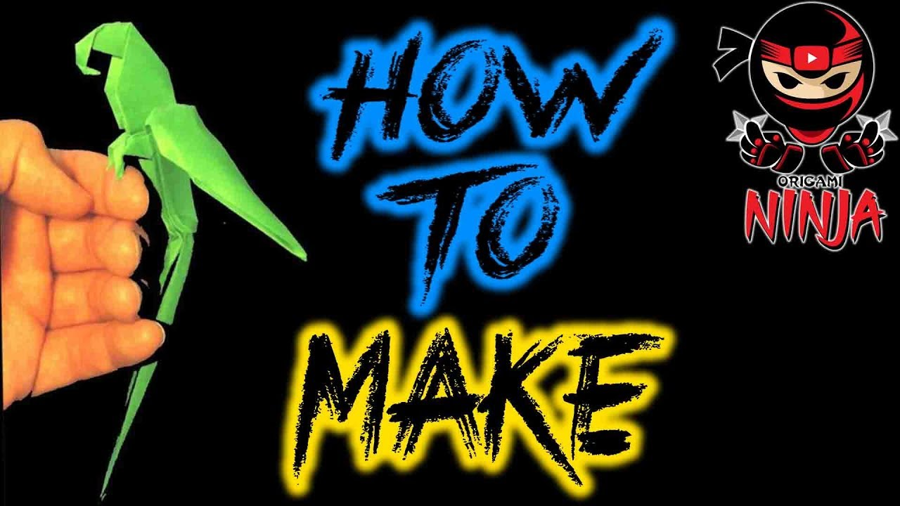 How To Make Origami Macaw Parrot Step By Step