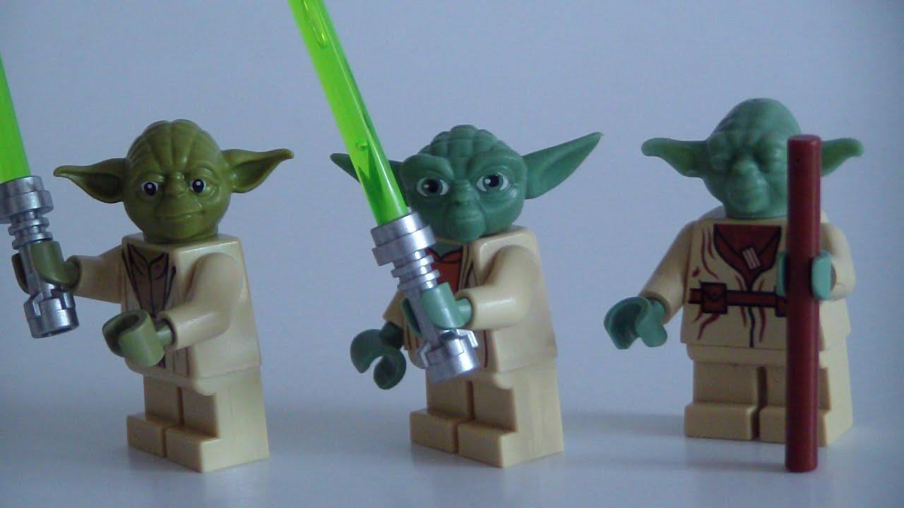 lego star wars yoda minifigure comparison youtube - Lego Yoda