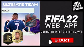 How To Play The FIFA 22: ULTIMATE TEAM Web App & Companion App (EARLY) screenshot 4