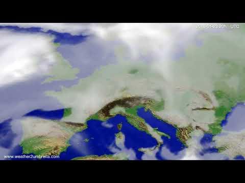 Cloud forecast Europe 2018-01-20