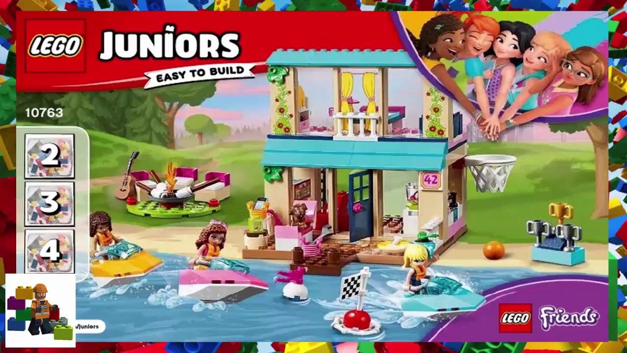 New 2018 10763 LEGO Juniors Friends Stephanie/'s Lakeside House 215 Pieces Age 4
