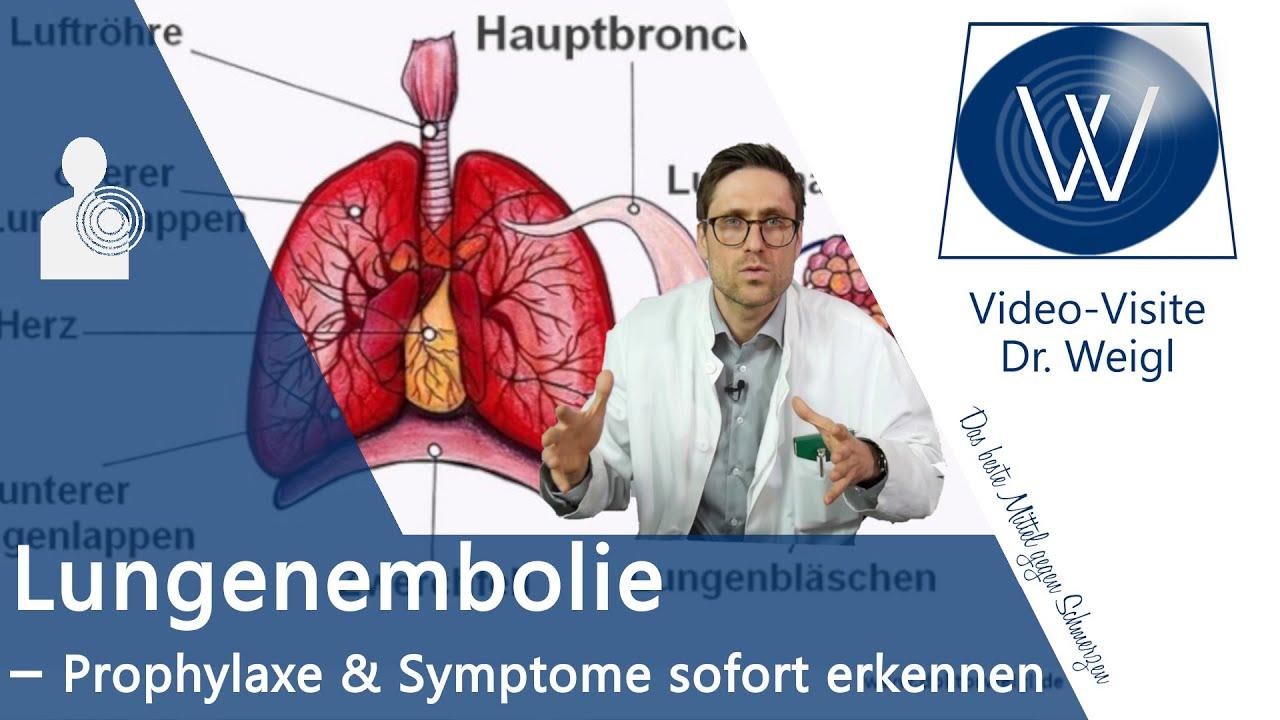 anzeichen für lungenembolie