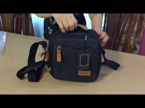 Aidonger Vintage Multifunction Canvas Business Shoulder Bag, iPad Messenger Bag