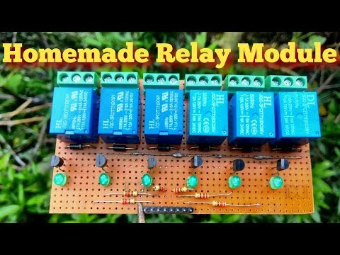 HOW TO MAKE A 6 CHANNEL RELAY MODULE AT HOME IN HINDI