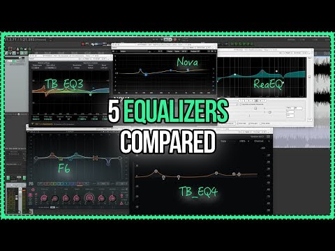 5 Equalizers Compared - ReaEQ vs Waves vs Toneboosters vs TDR