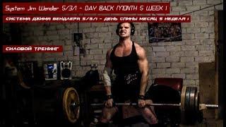 System Jim Wendler 5/3/1 - DAY BACK MONTH 5 WEEK 1