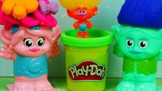Trolle & Play Doh Fryzjer | Zmiana Fryzur | Bajki dla dzieci