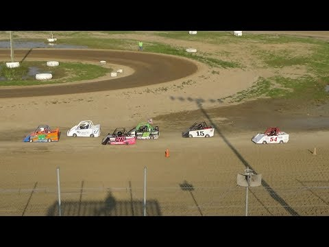 Mini Wedge B-Feature Race #2, 10-14 year old, at I-96 Speedway, Michigan, on 08-19-2018!