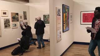 Barnsley YMCA conversation club visits Gordon Snee at Dean Clough