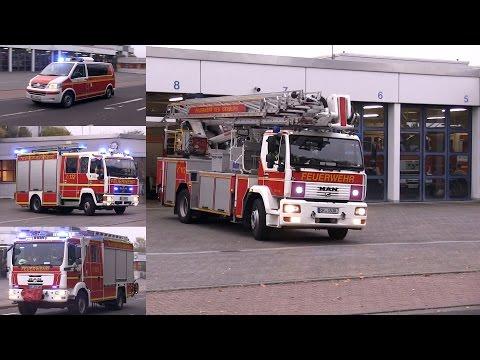 [Kaminbrand] Freiwillige Feuerwehr Neu-Isenburg rückt aus | Gong & ankommende FFler
