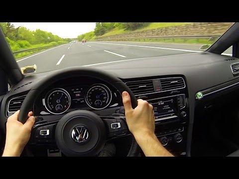 VW GOLF 7 R Onboard POV Acceleration Driver View Autoban Drive Autostrada Shift