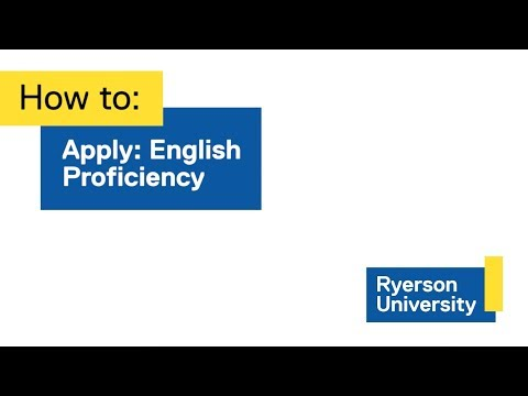 How to: Apply for English Proficiency