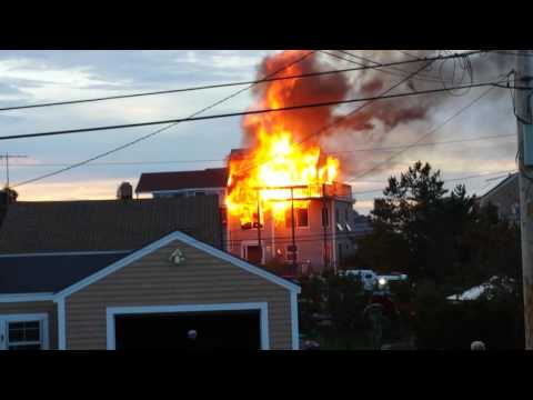 House Fire, 59th street on Plum Island, Newburyport MA shot from 57th street