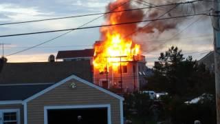 house fire 59th street on plum island newburyport ma shot from 57th street