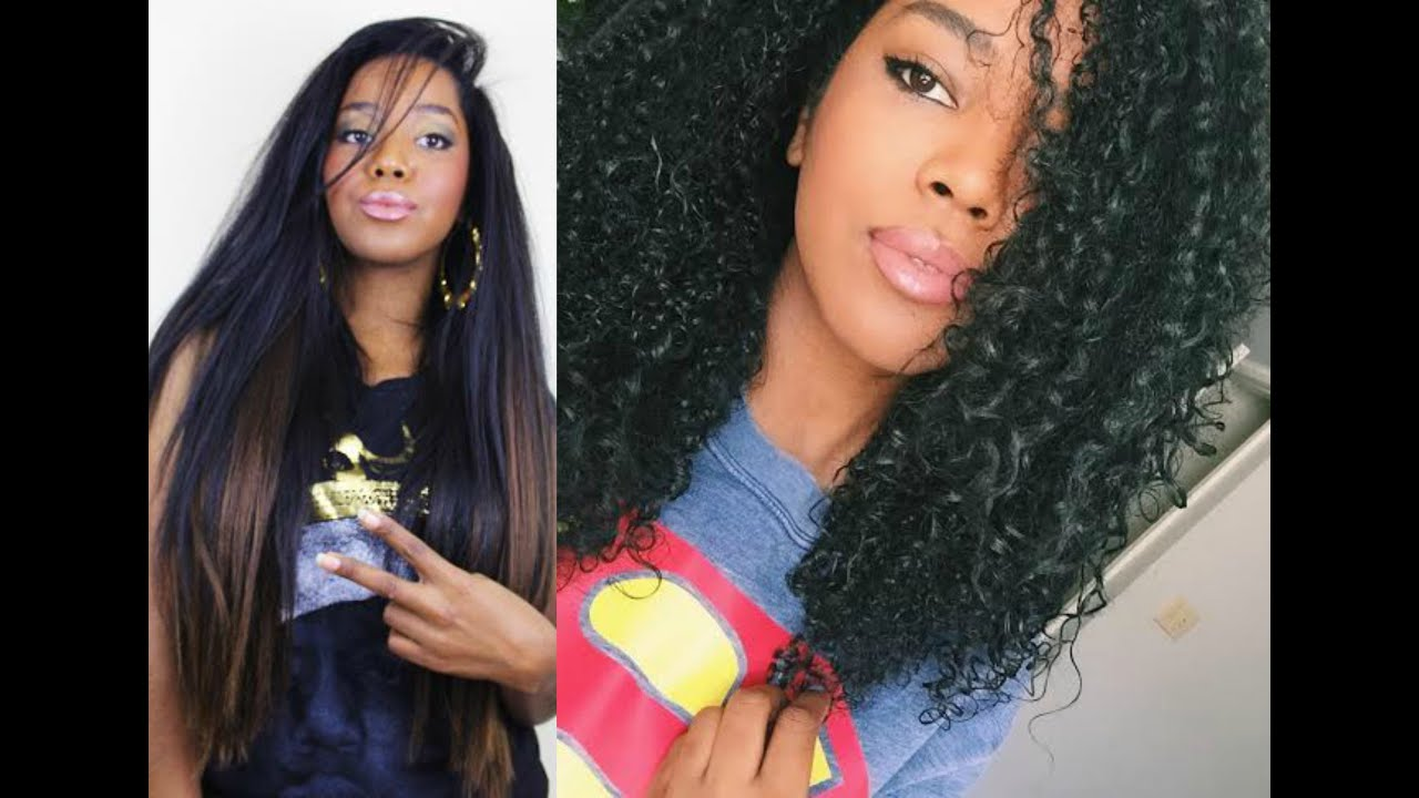 Watch My Natural Hair Revert Straight To Curly Heat Damage