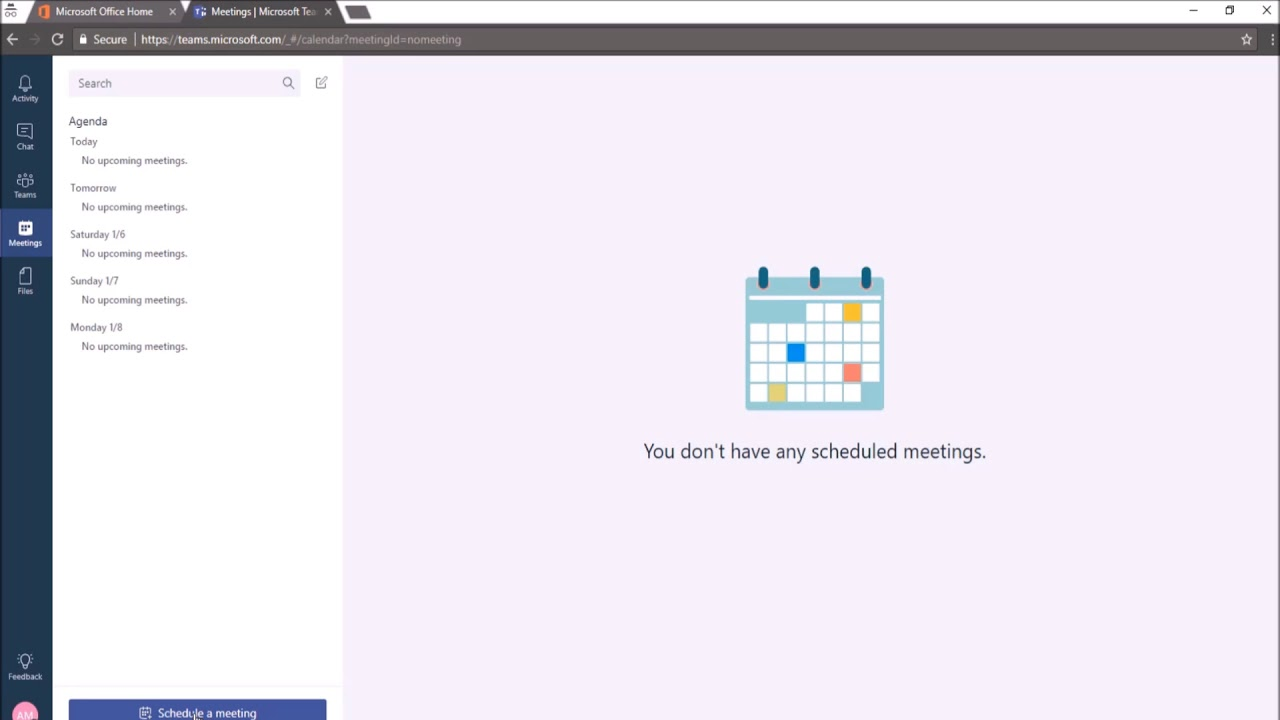 How the meetings in Microsoft Teams will sync with Outlook meetings?  (Method 1)
