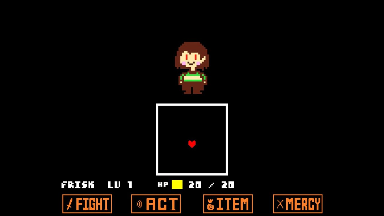 Unitale Chara戦(undertale fangame) PacifistEnding - YouTube