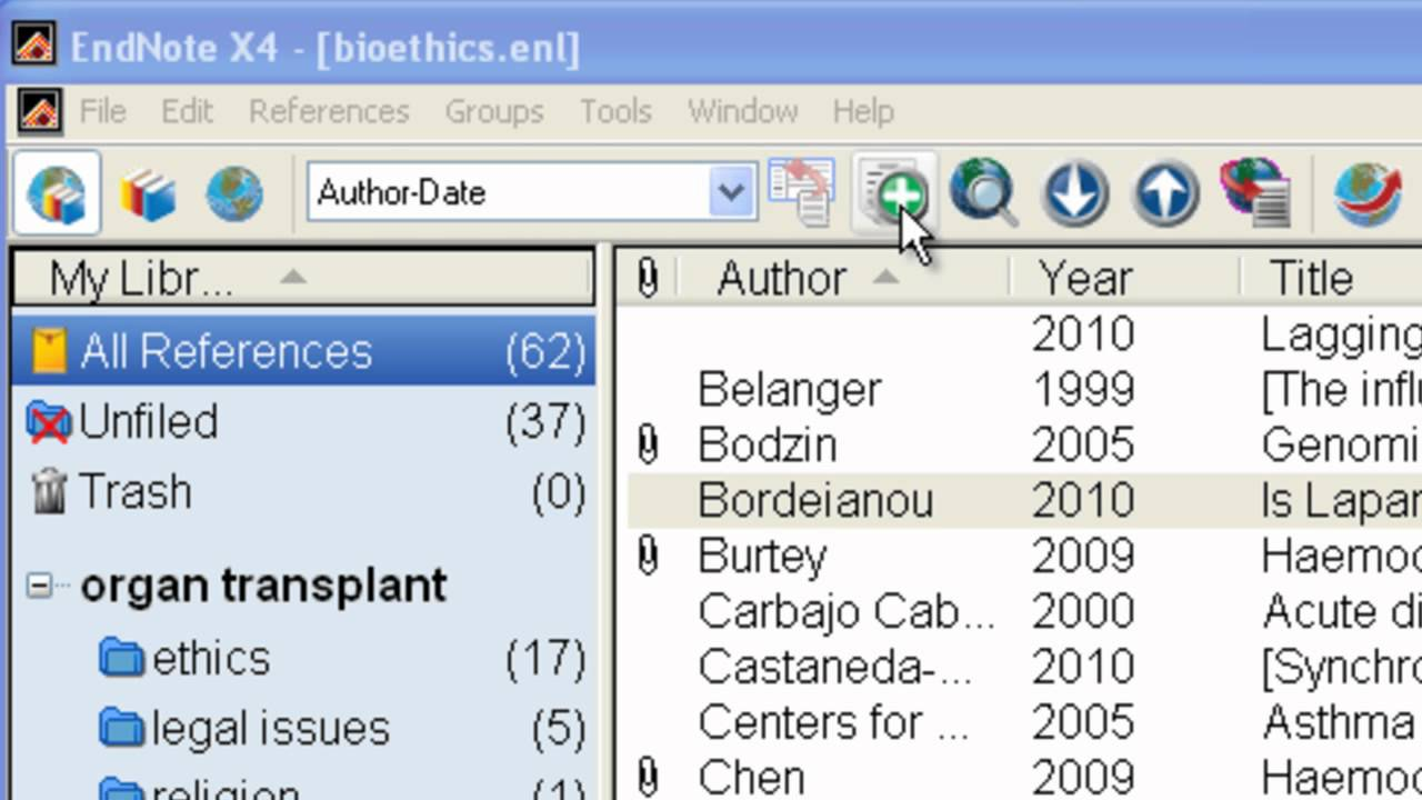 Endnote Adding References Manually Youtube