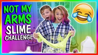 NOT MY ARMS SLIME MAKING CHALLENGE | We Are The Davises