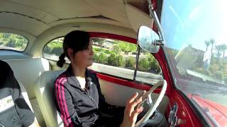 EV West Electric Beetle Conversion - Wife Takes A Drive With a Manual Trans in a Zelectric VW Bug
