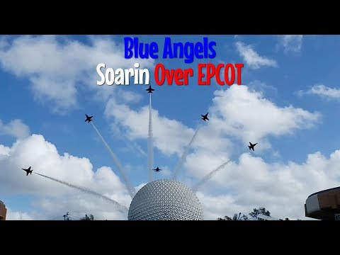 US Navy Blue Angels Soarin Over Epcot