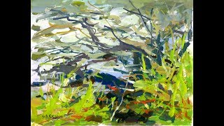 """Sarkis Antikajian's Landscape REAL TIME Gouache Painting Demo:  """"Bank By The Stream"""""""