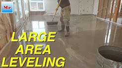 Concrete Subfloor Leveling in a Large Area MrYoucandoityourself