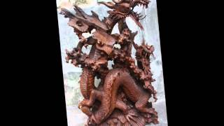 Dragon -  Wood Carvings And Sculptures By Balinese Artists Hd.mp4