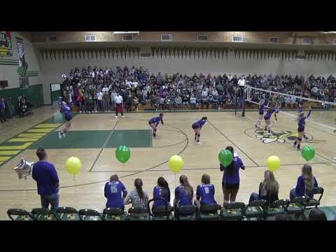 2018 Hilmar Girls Volleyball vs Shasta Set 2