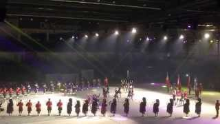 RCMP Royal Canadian mounted Police pipes and drums & Dancers International Tattoo Belgium 2014