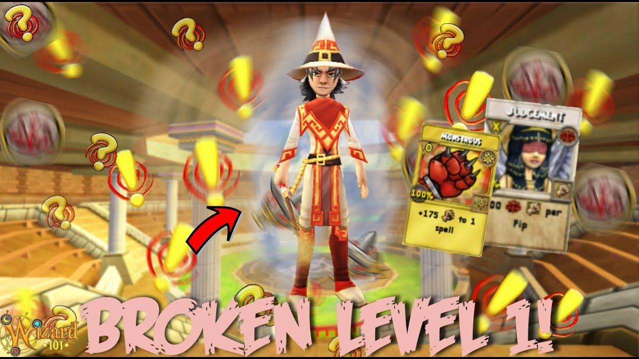 Wizard101: BROKEN LEVEL 1 PVP STRATEGY (INSANE)