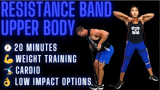 20 Minute Upper B๐dy Resistance Band Workout [Warm-Up & Cool-down]