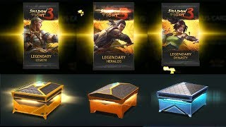 Shadow Fight 3 : League Pack u0026 Open Legendary , Epic , Rare Chest : )