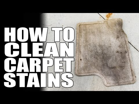 How To Remove Stains From Any Carpet - Masterson's Super Cleaner - Auto Detailing