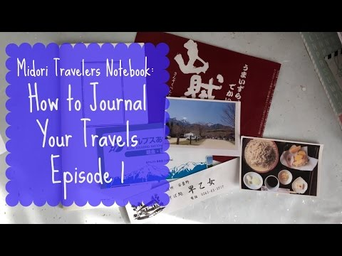 How I Journal My Trips or Events Ep.1 | Midori Traveler's Notebook