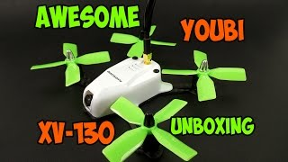 unboxing awesome youbi xv 130 130mm fpv racer