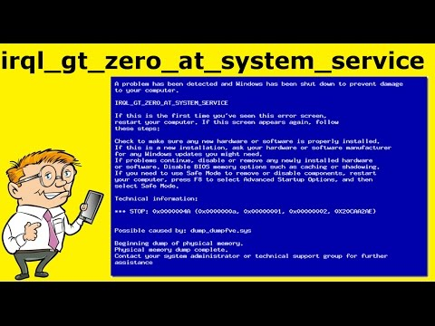 FIXED - irql_gt_zero_at_system_service BSOD With Error Code 0x0000004A