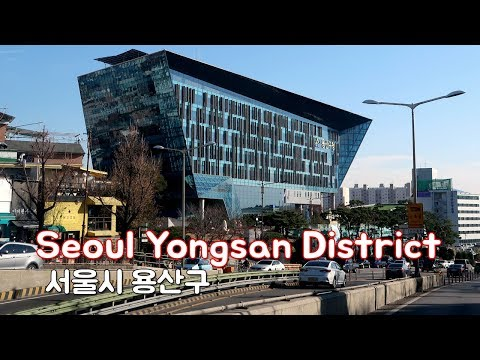 Driving in Seoul - Yongsan District(용산구) | Where many millionaires live.