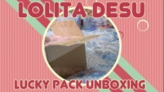 Lolita Desu Lucky Pack Unboxing