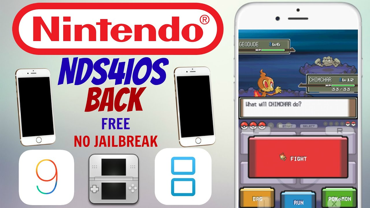 How To Download A NINTENDO DS Emulator (NDS4IOS) On IOS 9 0 2/9 3 3/9 3 4  No Jailbreak/Free