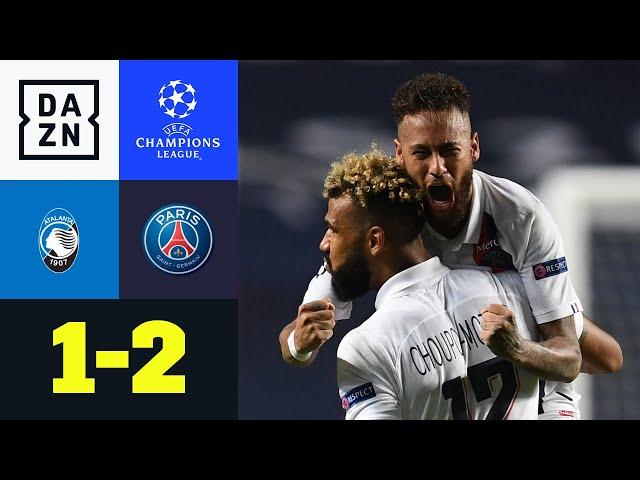 Choupo-Moting-Siegtreffer! PSG dreht die Partie: Atalanta - PSG 1:2 | UEFA Champions League | DAZN
