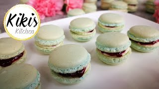 Gelingsichere Macarons | Pastellfarben | ohne bestimmtes Werkzeug | ohne Mandelmehl | Kikis Kitchen