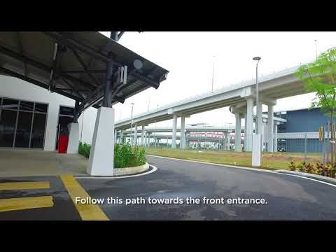 Getting to AirAsia RedQ on foot (klia2 departure hall)