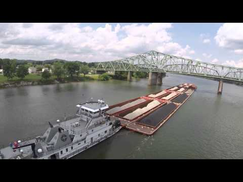 Barge in Ohio River