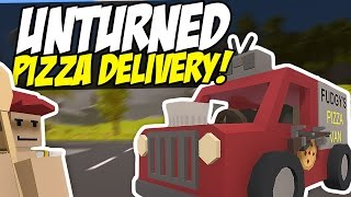 PIZZA DELIVERY MAN - Unturned RP (Funny Moments)